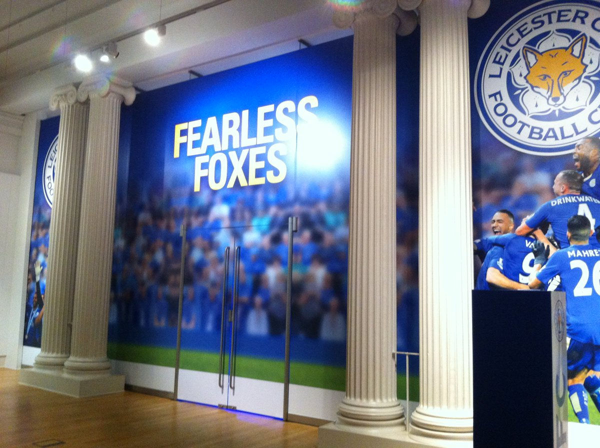 Join us at 11am for a special unveiling of #FearlessFoxes! Our new @LCFC exhibition at #newwalkmuseum #Fearless https://t.co/IeO8LO0ioK