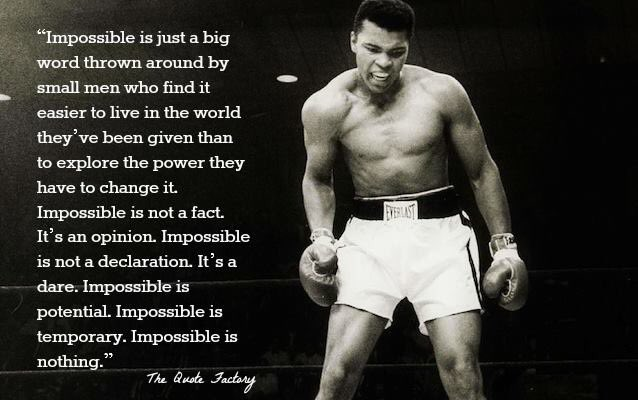 Muhammad Ali had some pretty memorable, inspirational quotes. Quotes to pass through life by. #RIPMuhammadAli https://t.co/8YEwbKF7oE