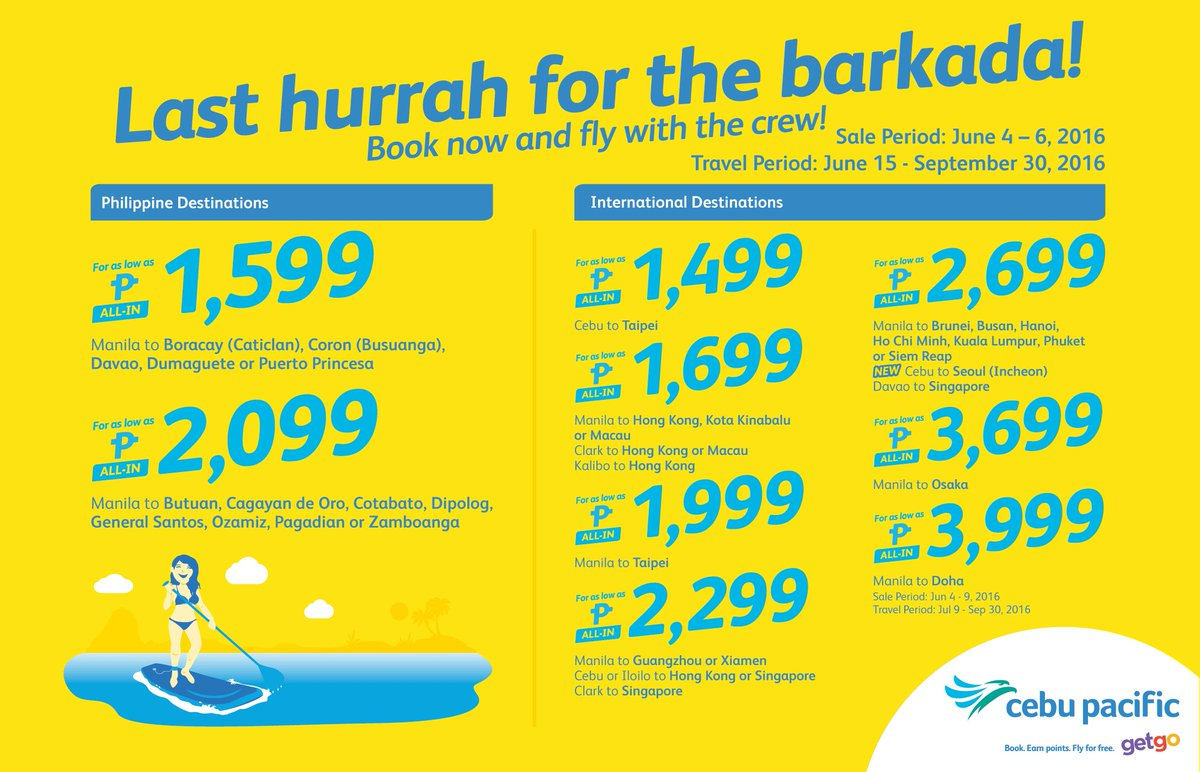 Go on Juan last summer flight with the barkada with the new CEBSeatSale! Book now!