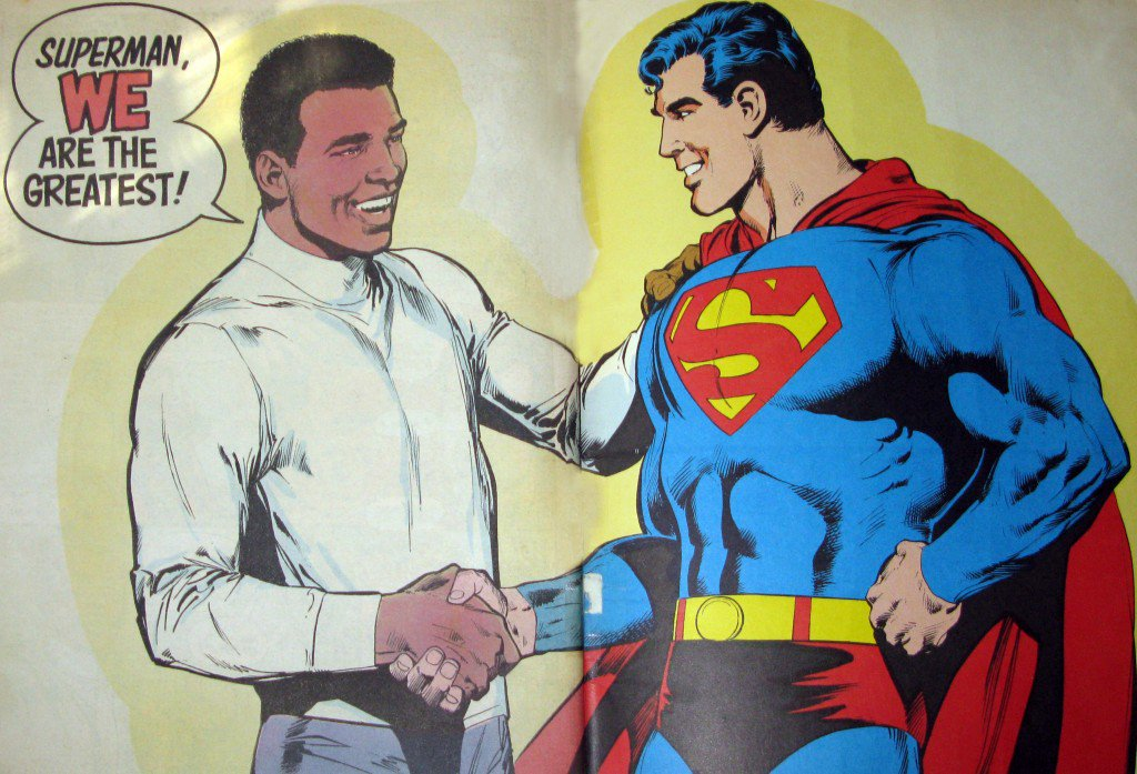 How cool was Muhammad Ali? The only guy to fight even Superman to a draw. RIP. https://t.co/i56YonEe9x