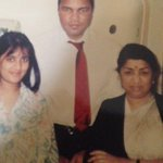 My niece Rachana and me with the great Muhammed Ali. https://t.co/Cl1sMCJ1Uo