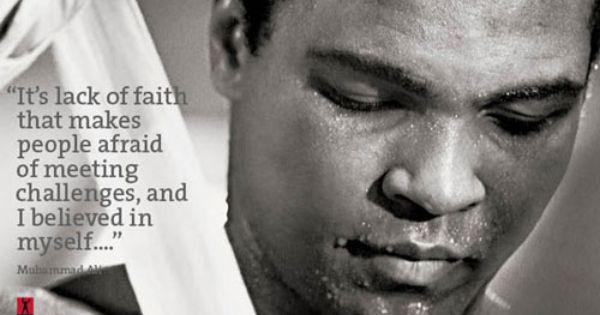 """It's the lack of #faith that makes people afraid of meeting challenges, and I believed in myself..."" #MuhammadAli https://t.co/5jqhbBF26h"