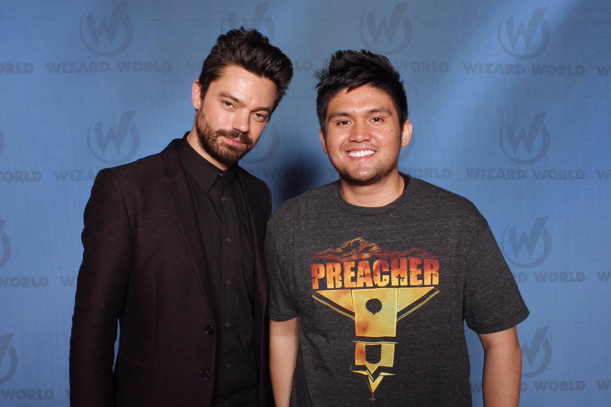 Met Dominic Cooper (Jesse Custer from 'Preacher'). Found out he had a British accent. Always thought he was American https://t.co/4vCjEEVXty