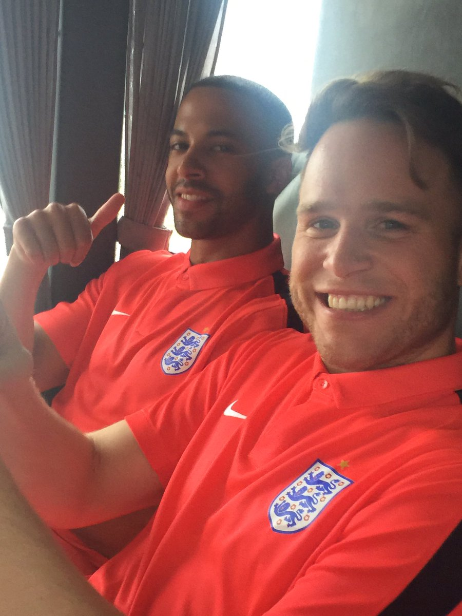@ollyofficial @MarvinHumes looking calm and relaxed on the England bus on the way to Manchester ! #SoccerAid2016 https://t.co/BmN2M7QZEV