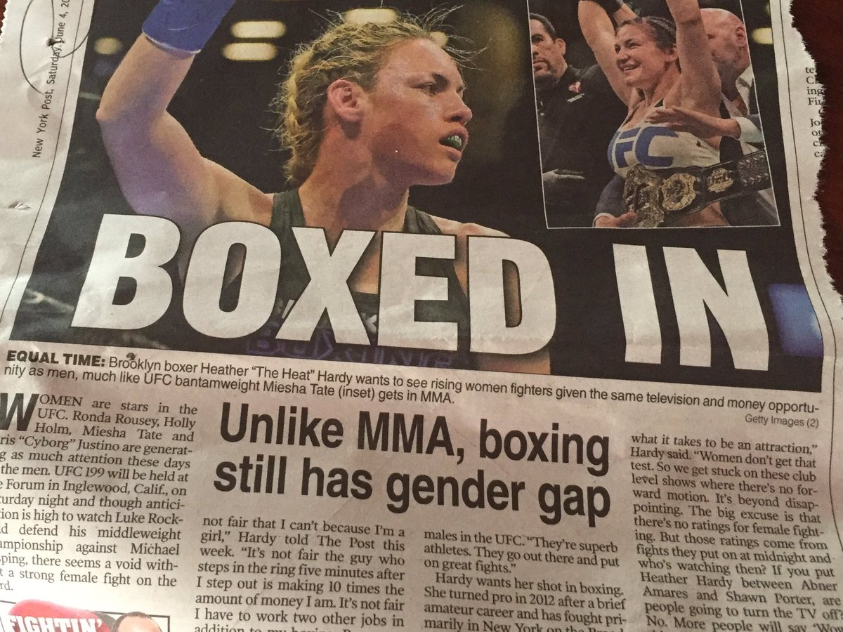 Love this @NYPost_Willis piece about @HeatherHardyBox frustration with boxing. @FrankieEdgar @tgerbasi @RondaRousey https://t.co/RXACrHlQBe