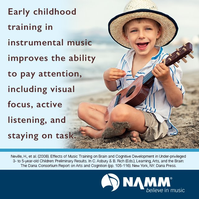 Early childhood training in instrumental #music improves the ability to pay attention https://t.co/2Xi5cWe1P5