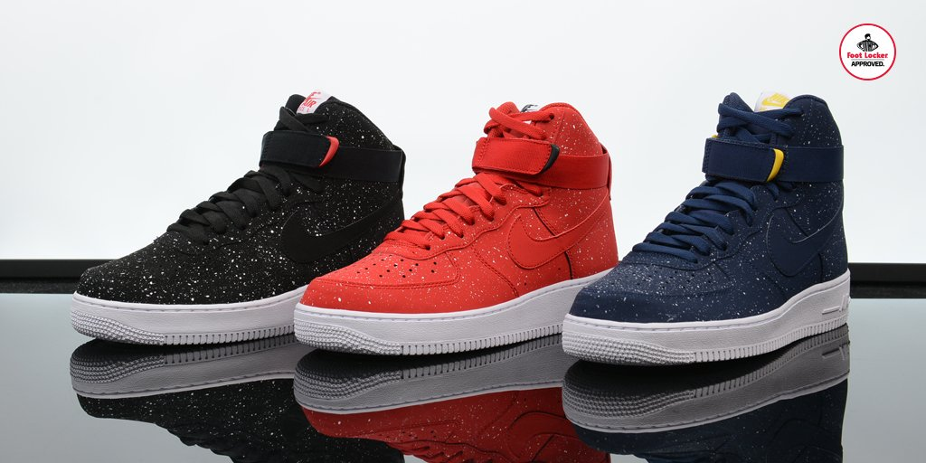Here is a look at the #Nike Air Force 1 High Splatter Collection. Available