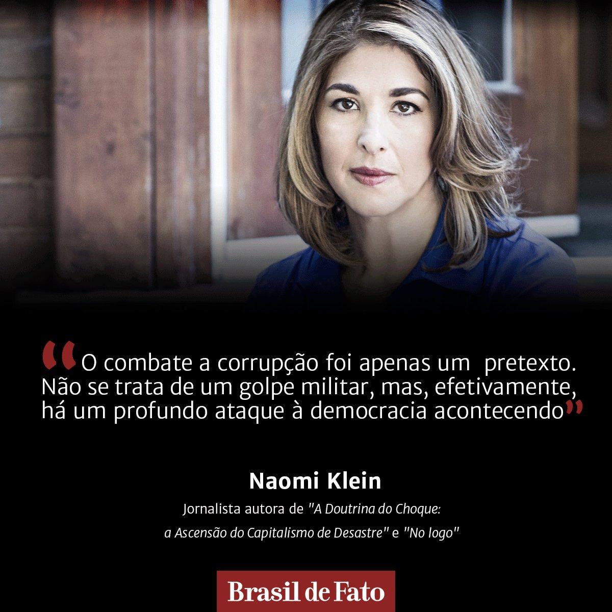 "ENTREVISTA EXCLUSIVA | ""Democracia brasileira está sob ataque"", afirma Naomi Klein https://t.co/Q59F2xva5F https://t.co/ZNi8KqtnTr"