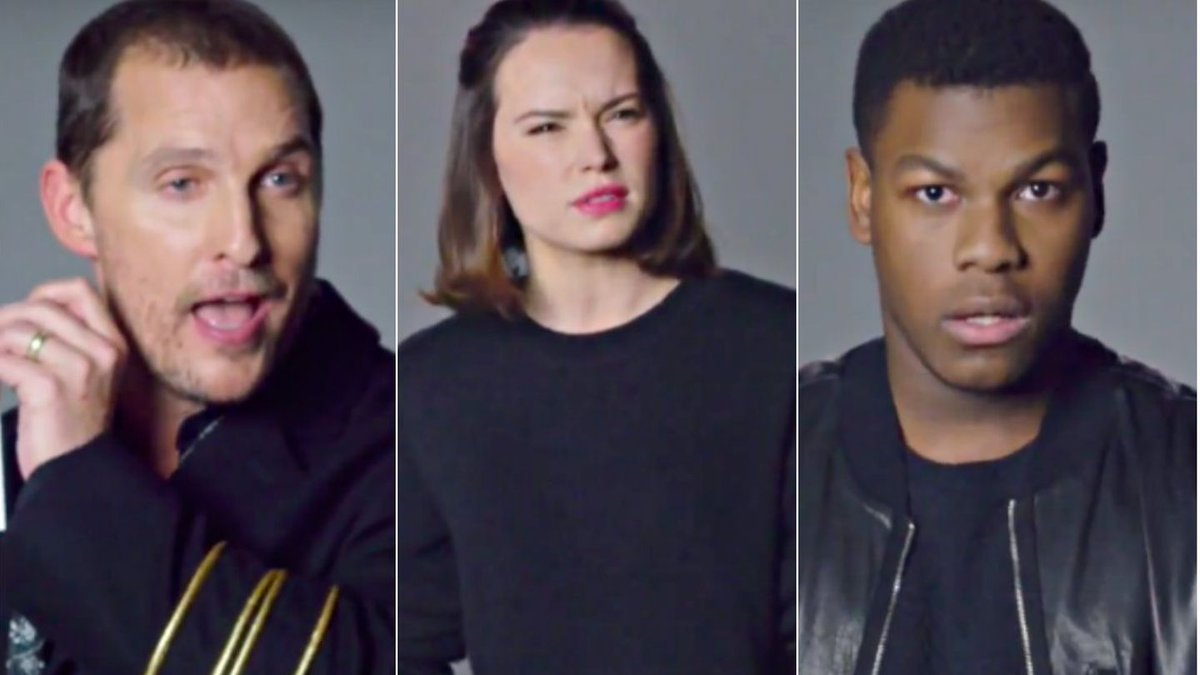 Watch Daisy Ridley, John Boyega, And Matthew McConaughey's Star Wars Auditions