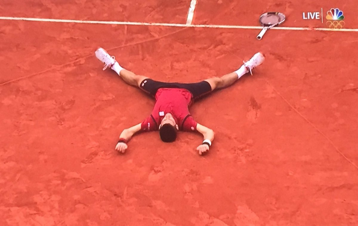Career slam finally for @DjokerNole! Gets the