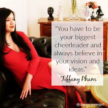 """You have to be your biggest cheerleader and always believe in your vision and ideas."" -Tiffany Pham, CEO @onmogul https://t.co/0MLjDhQHCu"