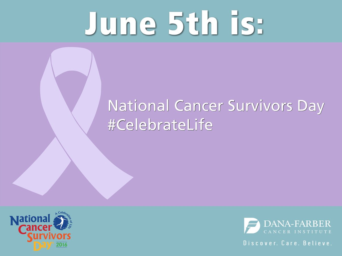 Today is @SurvivorsDay. Please Retweet to recognize & honor all cancer survivors. #CelebrateLive #NCSD2016 https://t.co/sEsWbFoaaw