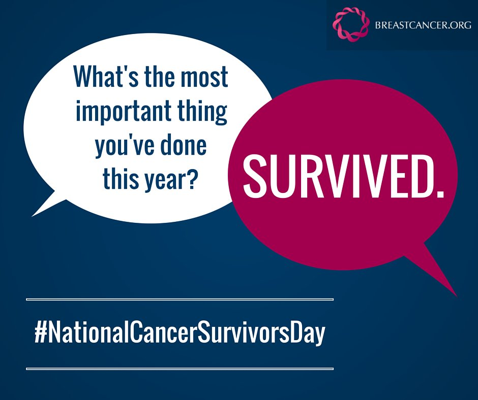 To all the #breastcancer survivors, we celebrate you today and every day. #NationalCancerSurvivorsDay https://t.co/3AykoIQVfo