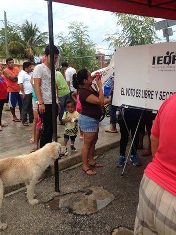 EL @IEQROO_oficial PERMITE QUE LAS MISMAS LIDEREZAS PASEN LA CASILLA A SACAR LA FOTO @Noticaribe @pedrokanche https://t.co/tyuOuQmKAi