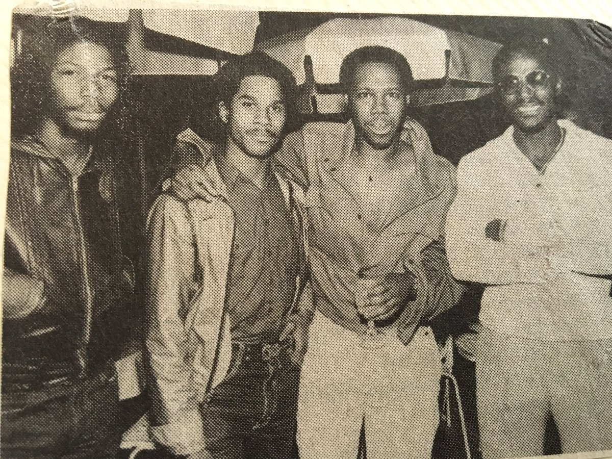 Steve Arrington, Mark Adams bassist for Slave, Nile Rodgers guitarist for Chic, TS Monk. 81-82 NYC. https://t.co/NpGmRpc0Xl