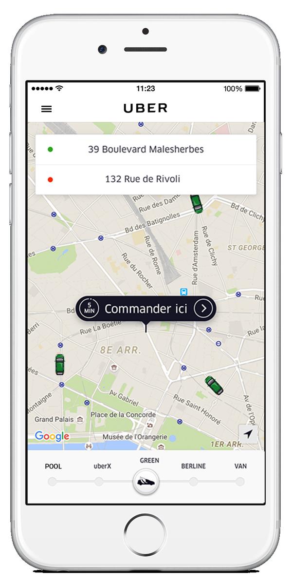 Uber lance demain en France « uberGREEN », un service qui veut garantir la commande d'un véhicule électrique/hybride https://t.co/coynPsRSCc