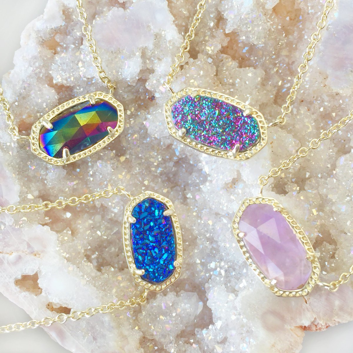 Tell us which Elisa to bring back! Retweet to vote. #MultiDrusy #BlueDrusy #Amethyst #BlackIridescent https://t.co/VDZykfK5bs