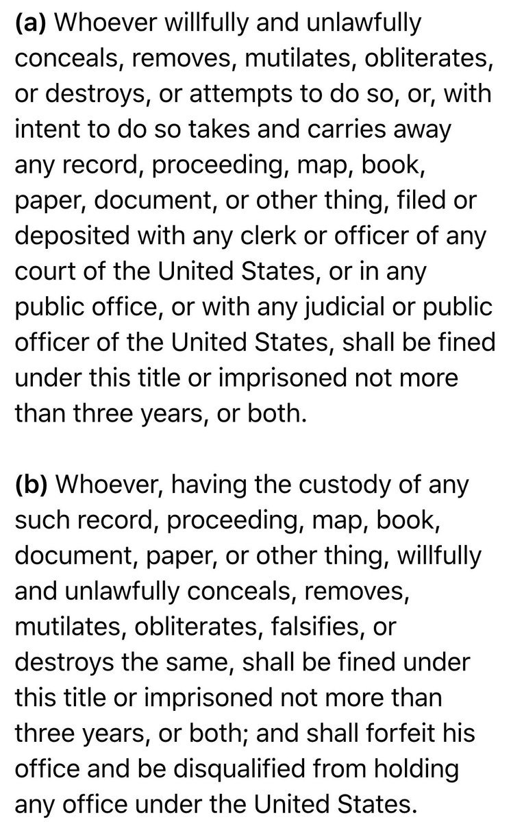 Title 18. Section 2071 of the United States Code forbids @HillaryClinton from holding office..  Via➛ @RealJamesWoods https://t.co/pY1q7eh79n