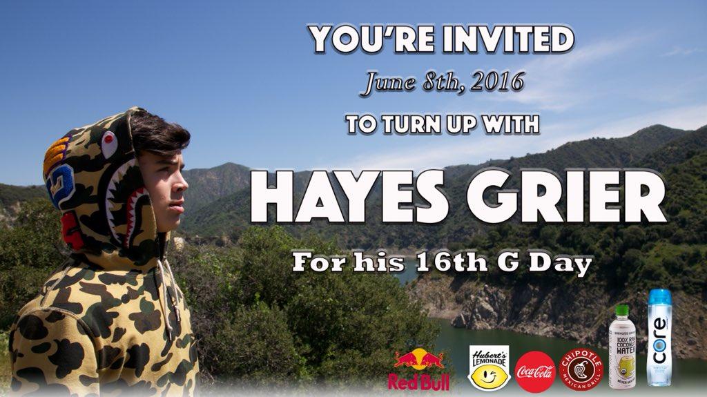 @HayesGrier #16th #BIRTHDAYBASH