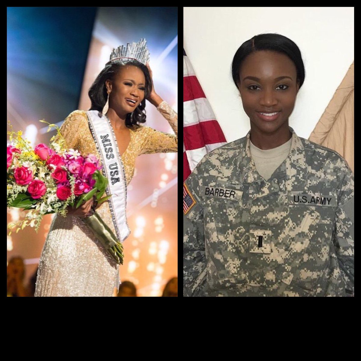 Congratulations to First Lieutenant Deshauna Barber who's the new  #MissUSA