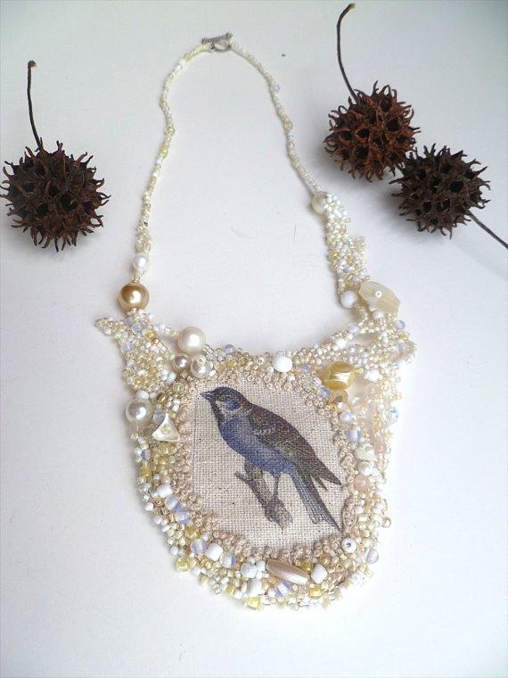 Free form peyote stitch wearable art mixed media necklace, BIRD https://t.co/3DWxJOJIpo #ooak https://t.co/aKm9KS7E5u