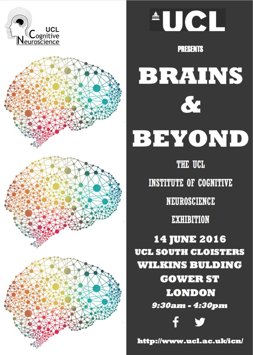 The @UCL_ICN is 20 & we are having a day of demos on the 14th June at UCL. Come along - I'll be talking about voices https://t.co/GJoTnup7oX