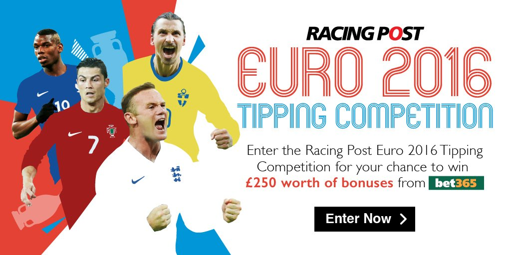 Enter our free Euro 2016 tipping competition for a chance to win £250 bonuses from @bet365 https://t.co/vxFV8NYfKT https://t.co/ZDK4H2kR9n