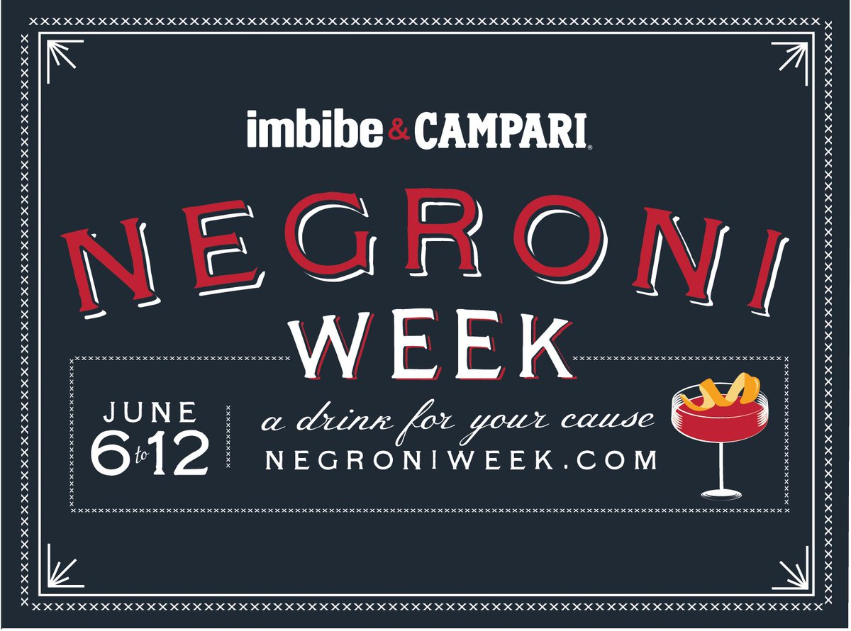 #NegroniWeek starts now! A portion of each drink sold goes to charity. Find a nearby venue: https://t.co/c7iT9R7WXL https://t.co/ejmlwllm1S