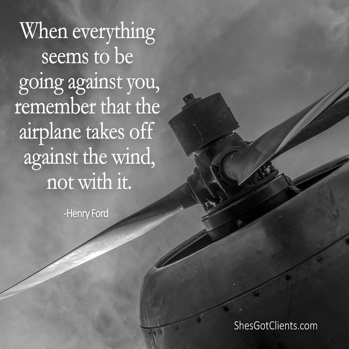 When everything seems to be going against you, remember that the airplane takes off against the wind, not with it. https://t.co/d6UYQsuAQl