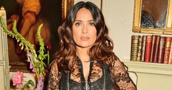 Salma Hayek's clunky heels ruin her otherwise fab ensemble: