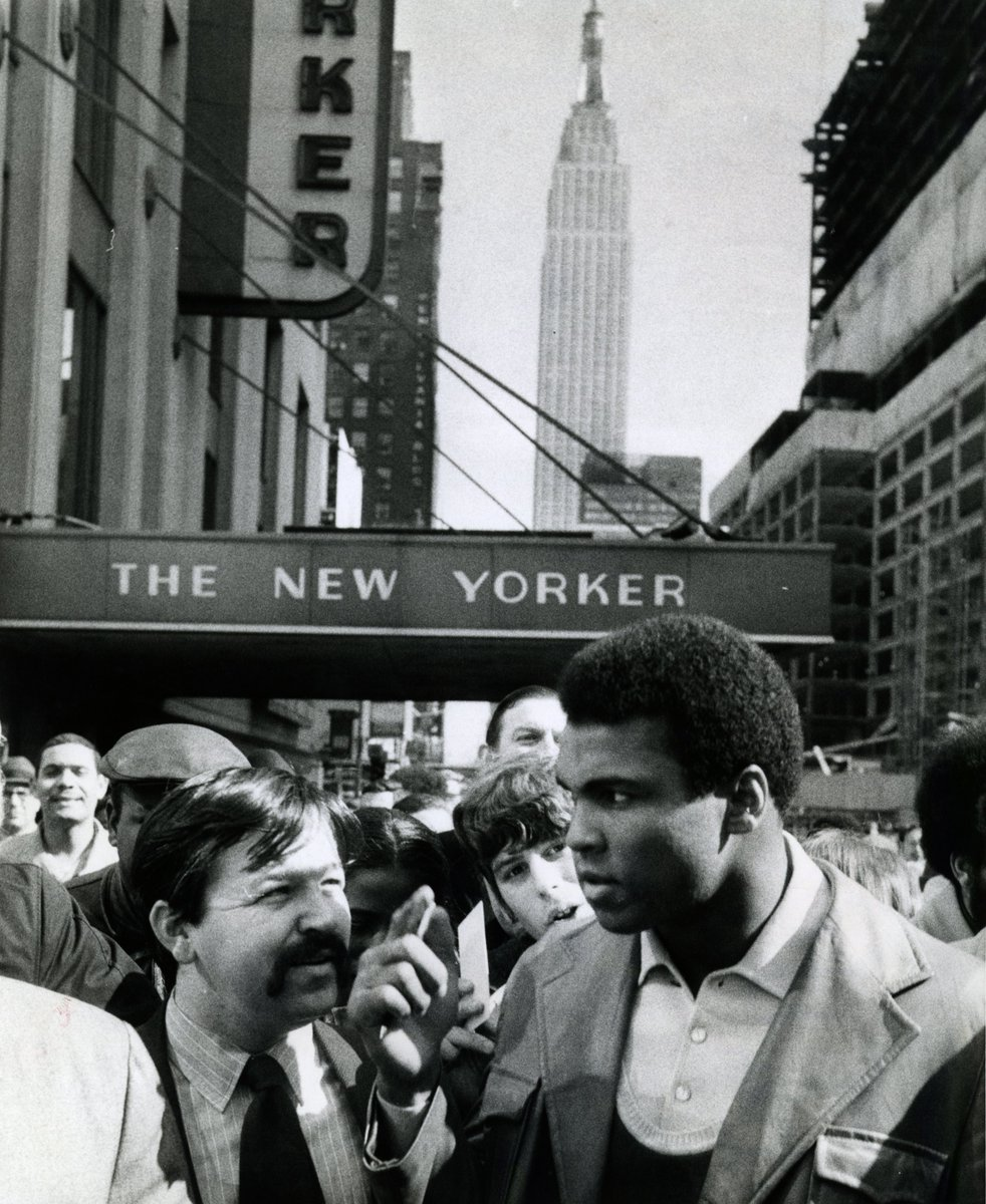 In honor of Muhammad Ali when he stayed at The New Yorker  in March 1971. #RIPMuhammadAli #NewYorkerHotel https://t.co/R8thPlc2BO