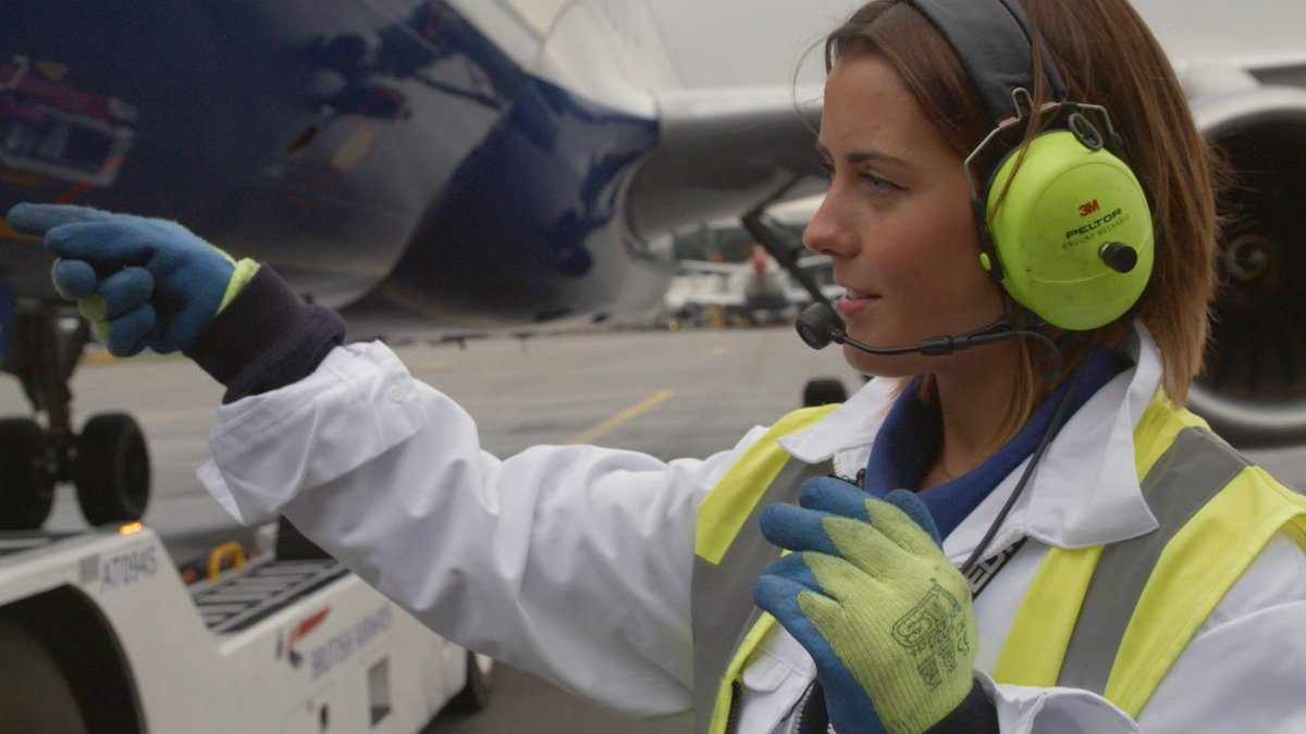 Meet Anasthasia - @British_Airways's first female aircraft handler: