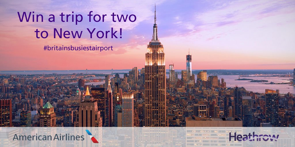 Here's your chance to win a trip to NYC from LHR with @AmericanAir!