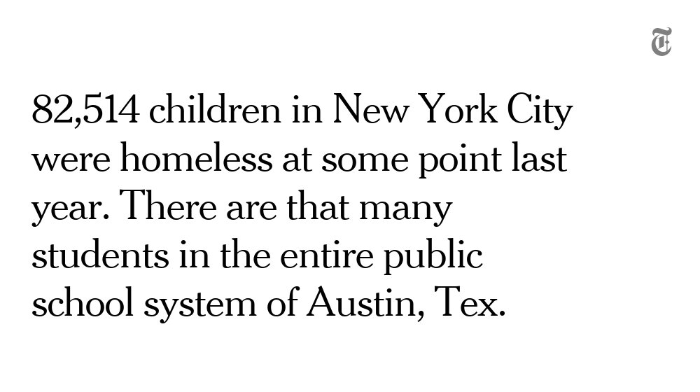 New York's homeless crisis is stretching the very idea of what a school is supposed to be https://t.co/hw8WpjtsFV https://t.co/zSTapEIumf