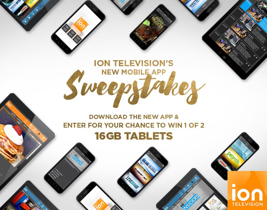 Download the new @IONTV app & enter to win a 16GB tablet! #IONTelevisionApp #Entry https://t.co/h4BhKt4rPI https://t.co/iEyhMU6hX8