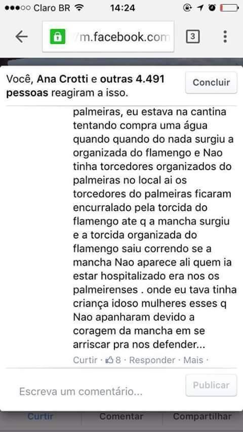 Olhem esse depoimento sobre a confusão de ontem em Brasília. https://t.co/5Uc3CUkYjg