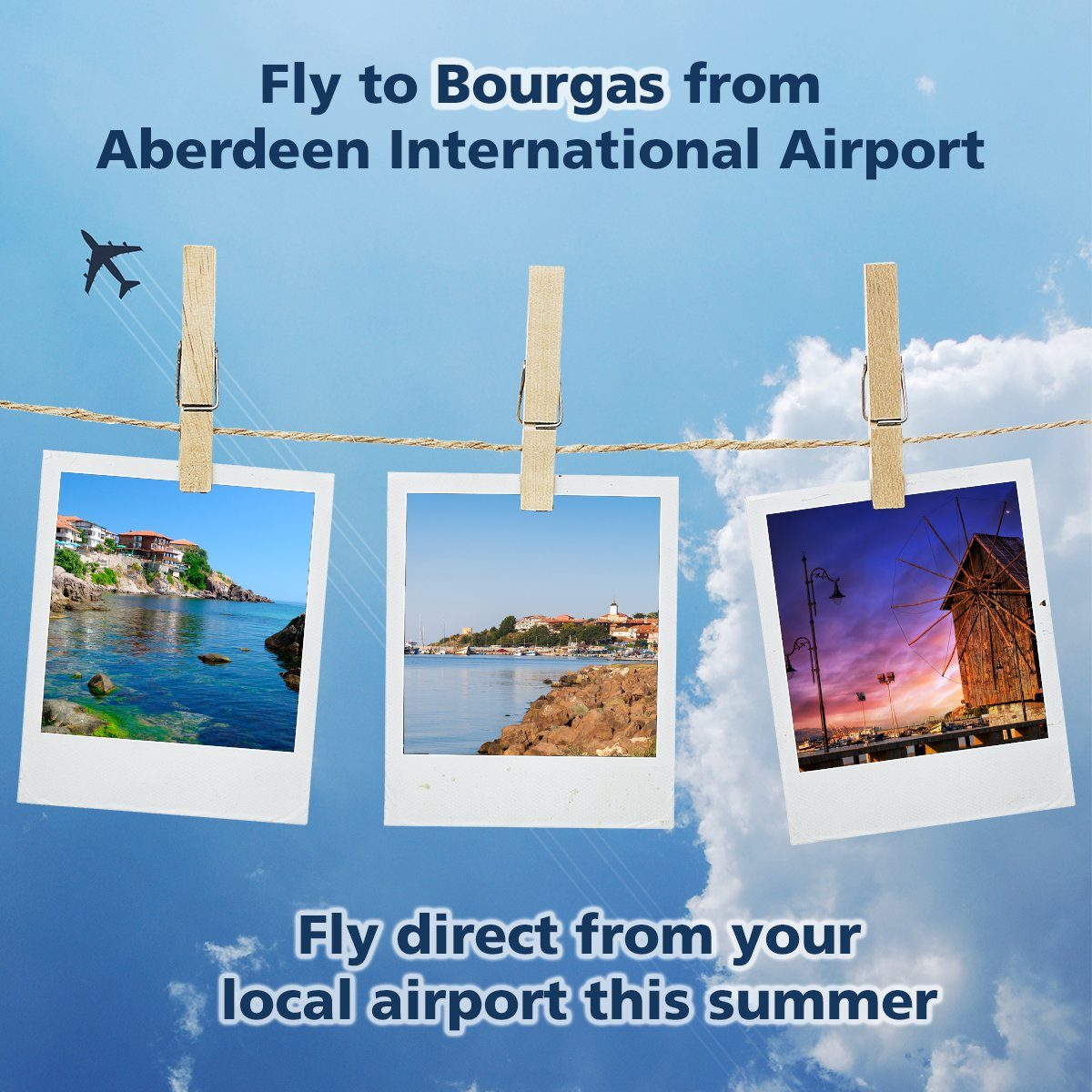 Fly direct to Bourgas from your local airport this summer!