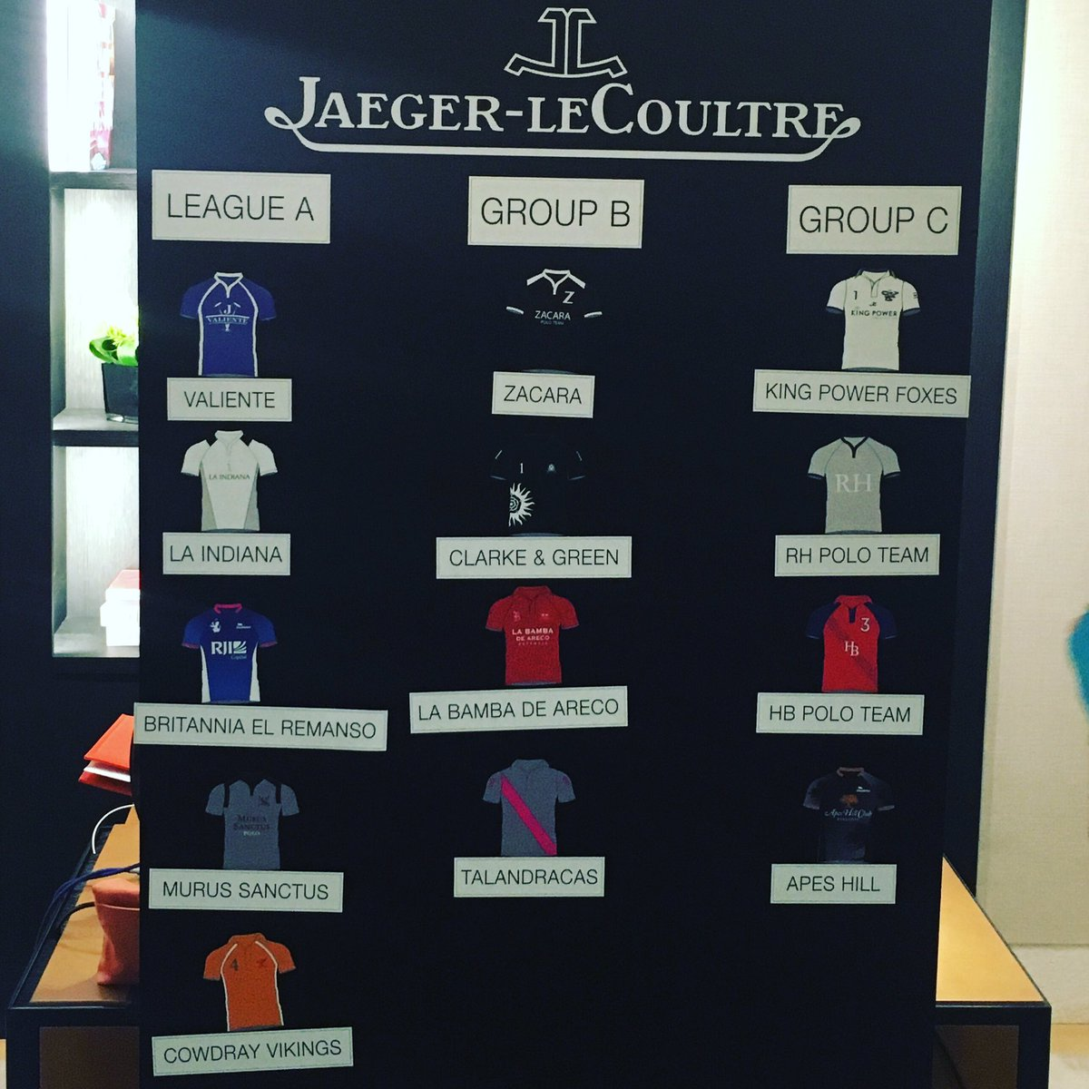 Live update here from London! The results of the @jaegerlecoultre Gold Cup Draw #jlcandpolo #85reverso https://t.co/SMRPa24Djl