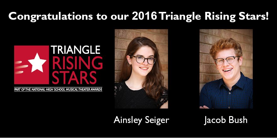 Congratulations to our 2016 Triangle Rising Stars, @jbush107 and @ainsleyseiger! Shine bright