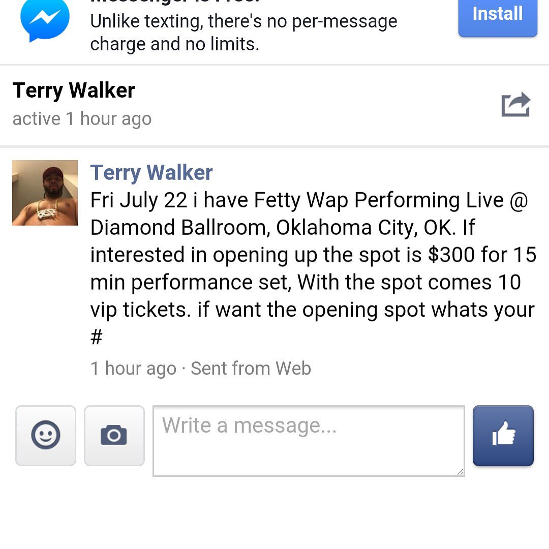 Artists this is a fake show don't not send money to him!! https://t.co/j6o1068k2l