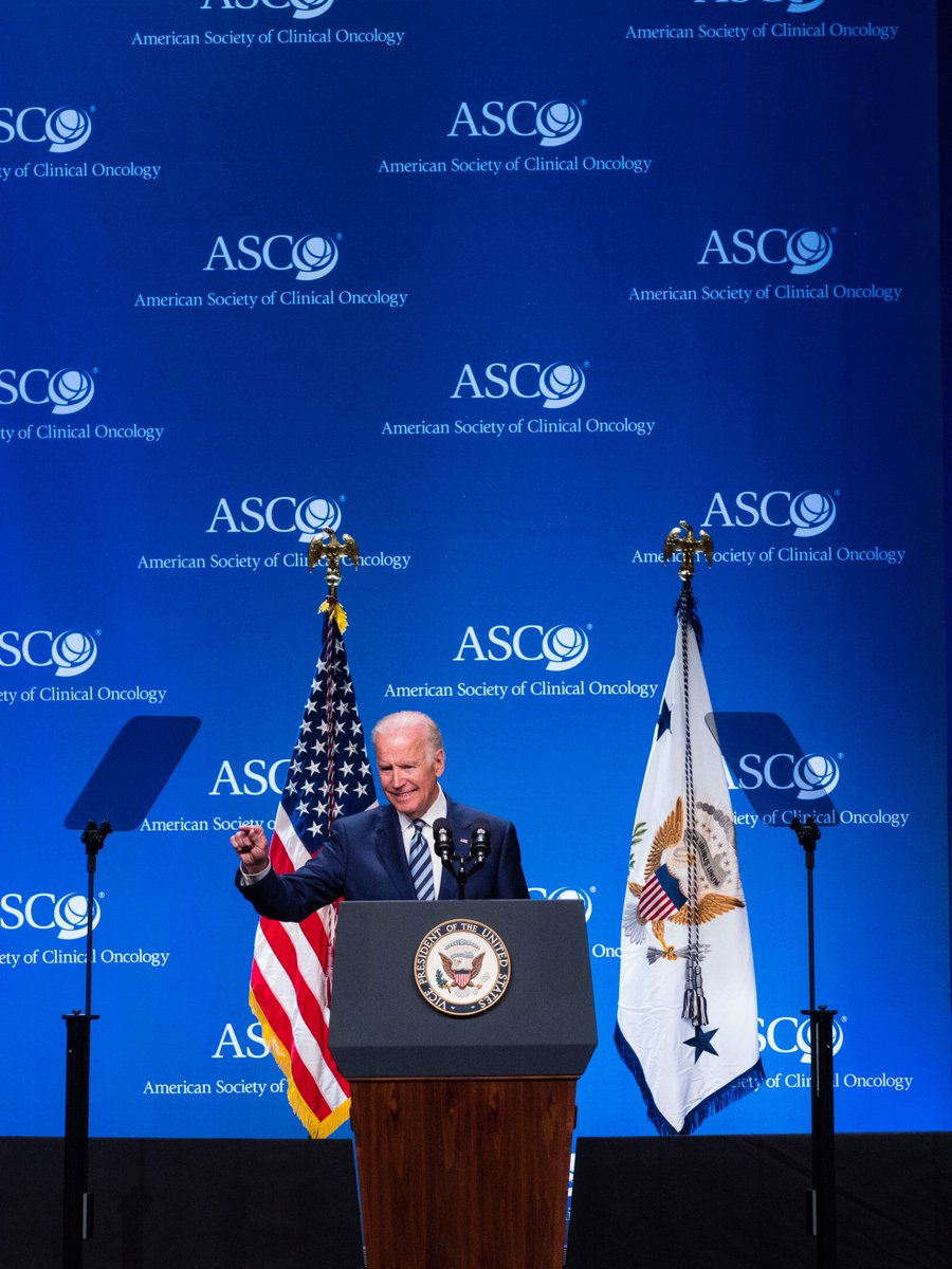 We thank @VP Biden for speaking at #ASCO16 on the importance of open data, team science, & new approaches to trials https://t.co/R1C33mPEIK