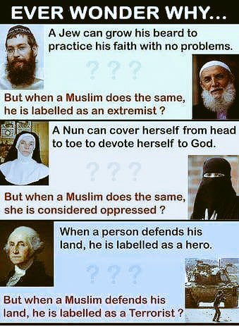 Western double standards...  Oh Allah... Safeguard Islam and the Muslims all over the world