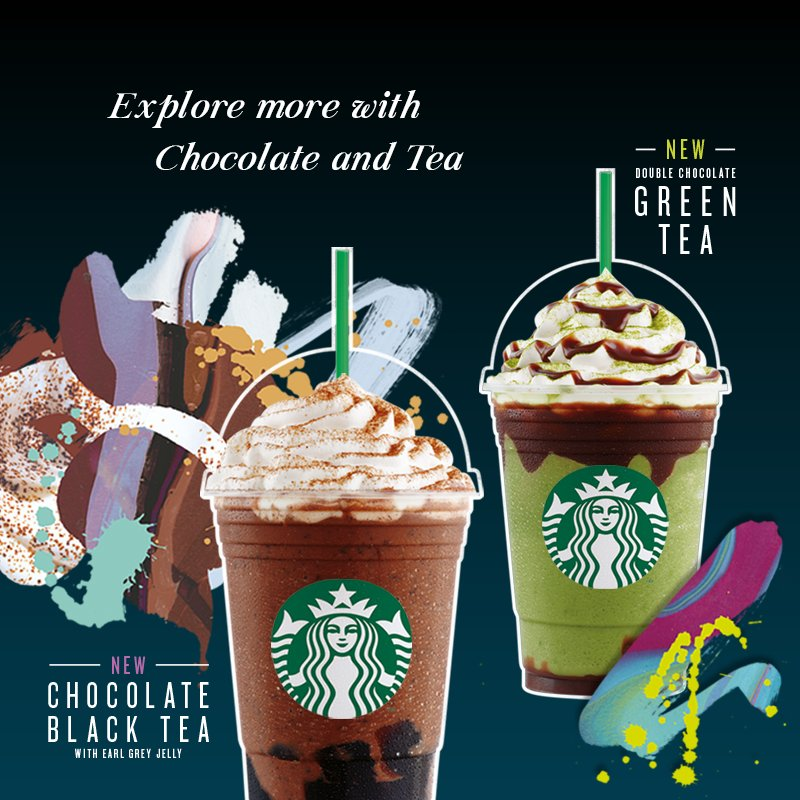 Say hello to our NEW Chocolate Black Tea and Double Chocolate Green Tea Frappuccino! *Now available in stores https://t.co/TN17iLTZn8