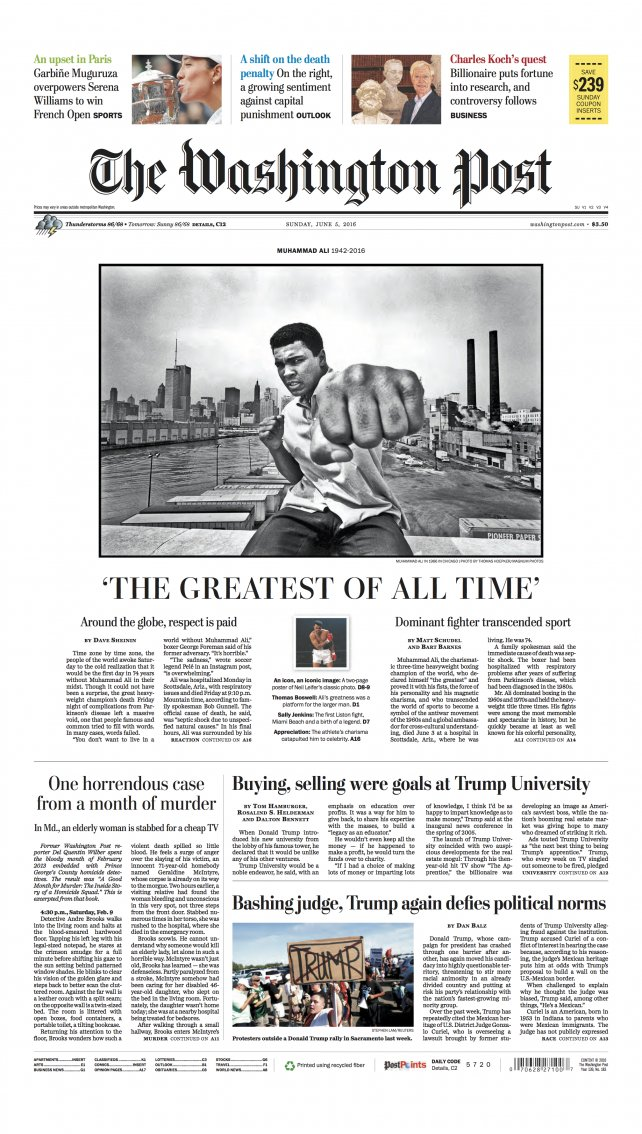 Remembering Muhammad Ali: 12 Newspaper Front Pages From Around the World  https://t.co/D0f5HanZaw https://t.co/qcAa6fqP4y