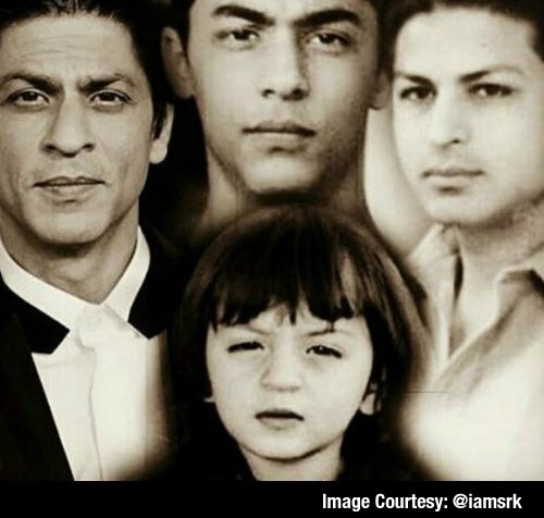 3 generations in one frame.. @iamsrk shares picture of 3 generations ...