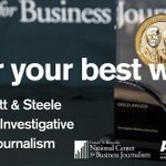 Business journalists: Submit your application for the 2016 Barlett & Steele Awards. https://t.co/YsmltJ3RvY https://t.co/Ky3RYan45d
