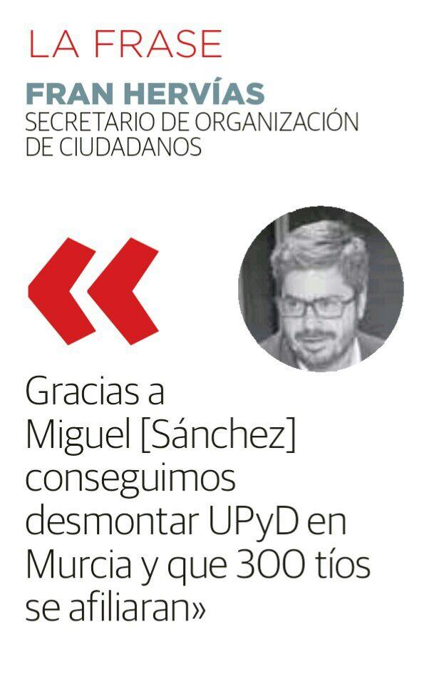 Hoy se conoce lo que todos sabíamos: destrozar @UPyD tenía recompensa: Puesto de salida en Cs. Pasó en toda España https://t.co/os99tAzpKW