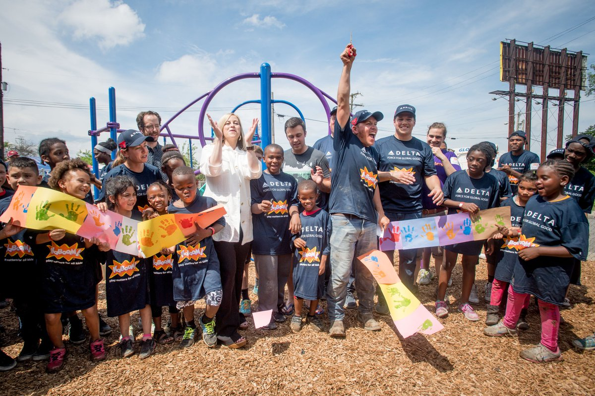 VIDEO: @Delta completes first @kaboom! playground in