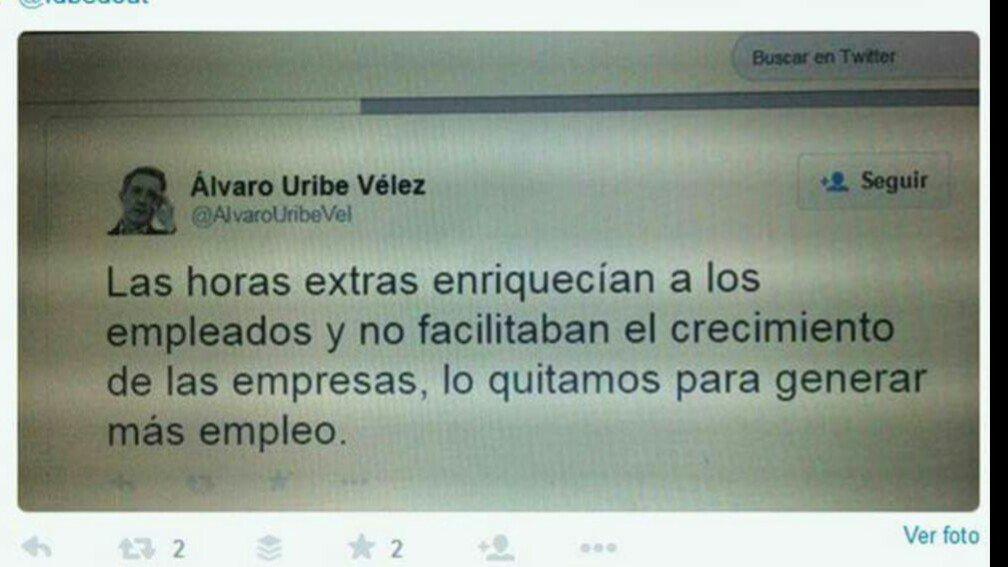 #AmnesiaUribista  Tengan a su Senador Uribe y sigan apoyándolo https://t.co/2eeRUQ5Vaa