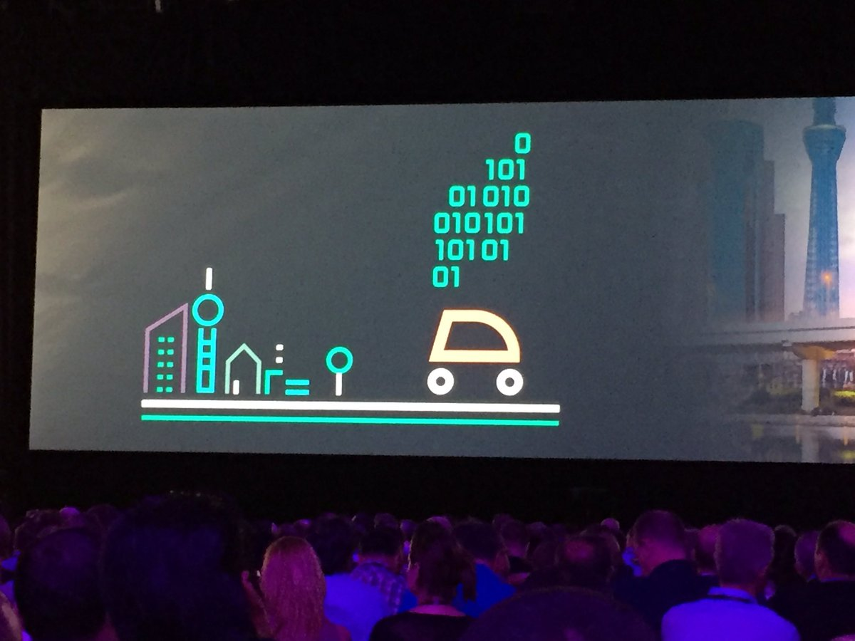 Whitman: Each autonomous vehicle could produce as much data as four libraries of congress #HPEDiscover @HPE_Discover https://t.co/psWcjYW4hL